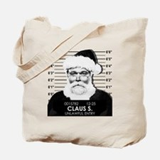 Santa Mugshot Tote Bag