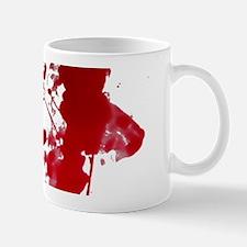 blood Splatter I Am Fine Mugs