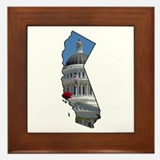 Cute State capitol Framed Tile