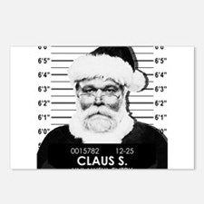 Santa Mugshot Postcards (Package of 8)