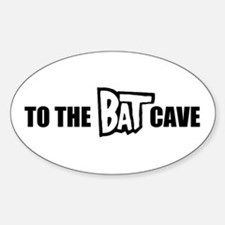 """""""Bat Cave"""" Oval Decal"""