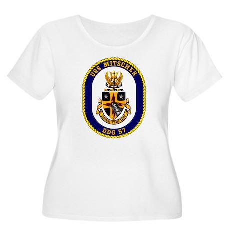 USS Mitscher Women's Plus Size Scoop Neck Tee