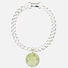 Pretty Green Watercolor With A Leaves Overlay Brac