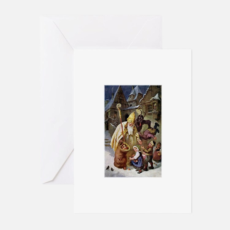 Krampus 005 Greeting Cards (Pk of 20)