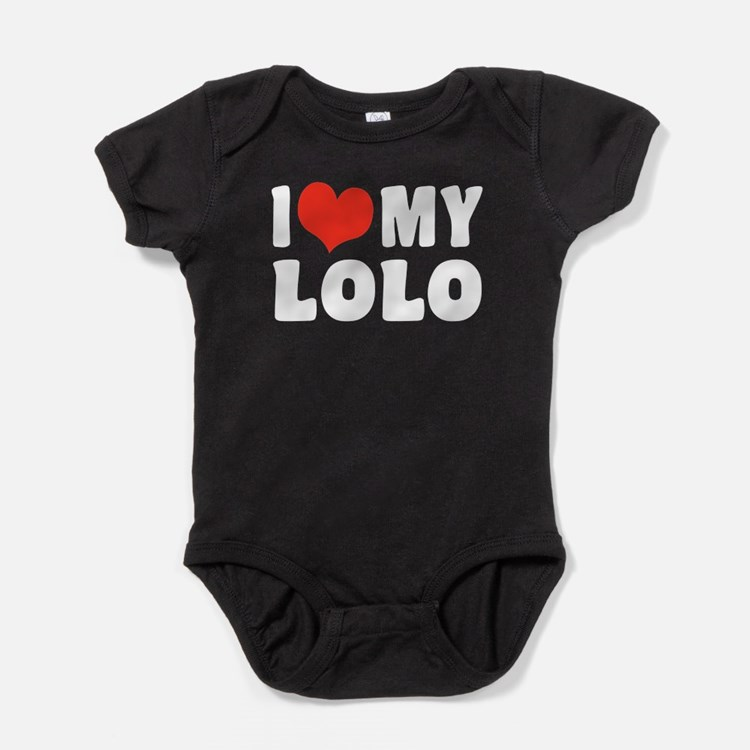 I Love My Lolo Baby Bodysuit