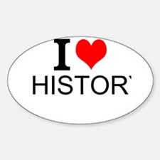 I Love History Decal