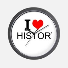 I Love History Wall Clock