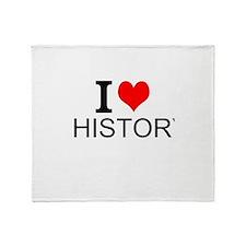 I Love History Throw Blanket