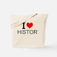 I Love History Tote Bag