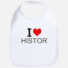 I Love History Bib