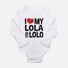 I Love My Lola and Lol Long Sleeve Infant Bodysuit