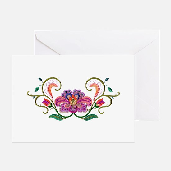 Floral Embroidery Greeting Card