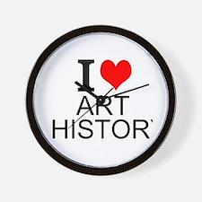 I Love Art History Wall Clock