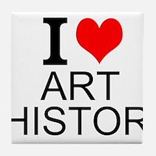 I Love Art History Tile Coaster