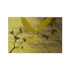 flying leaf dragon Magnets