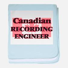 Canadian Recording Engineer baby blanket