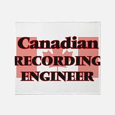Canadian Recording Engineer Throw Blanket