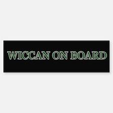 Wiccan on Board Bumper Bumper Bumper Sticker