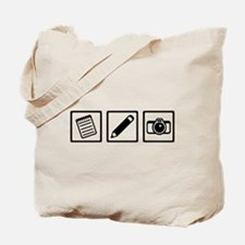 Journalist equipment Tote Bag