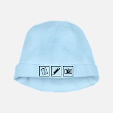 Journalist equipment baby hat