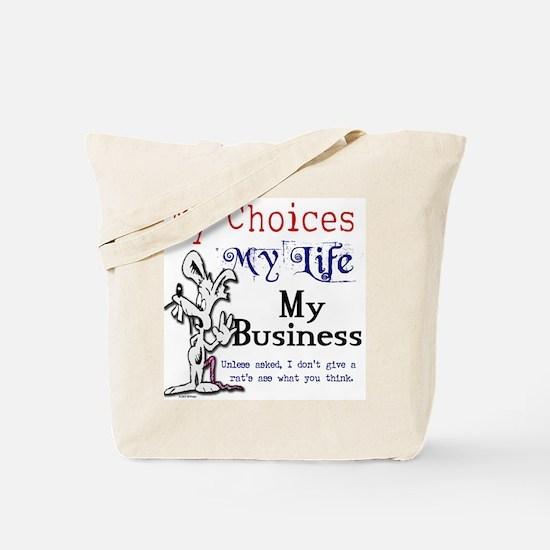 Cute Rats ass Tote Bag