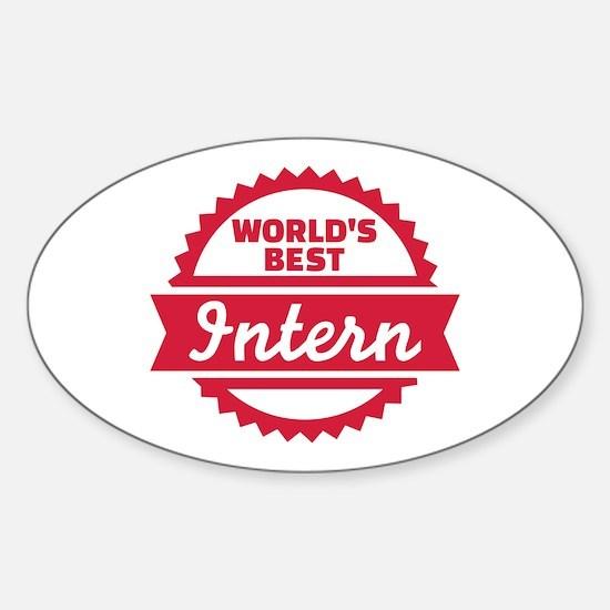 World's best Intern Sticker (Oval)