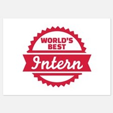 World's best Intern Invitations