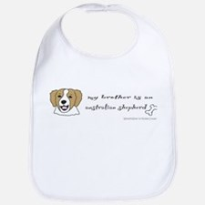 Funny English foxhound Bib