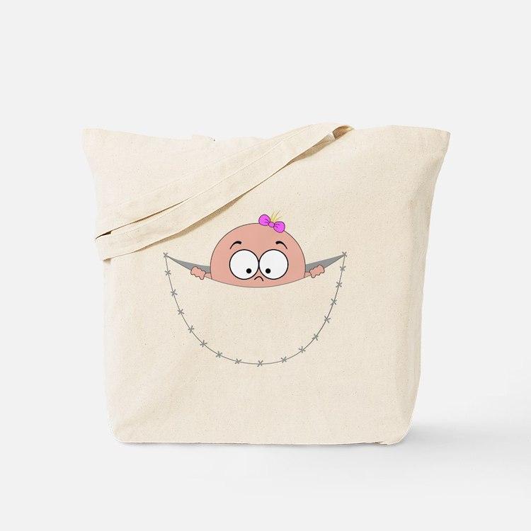 peek a boo baby girl pregnant pregnancy s Tote Bag
