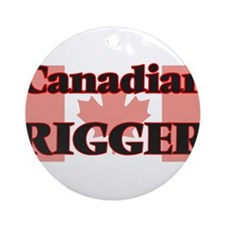 Canadian Rigger Round Ornament
