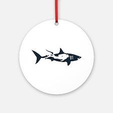 shark scuba diver hai tauchen tauch Round Ornament