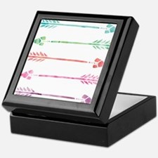 Rainbow Watercolor Arrows Keepsake Box