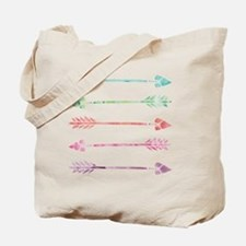 Rainbow Watercolor Arrows Tote Bag