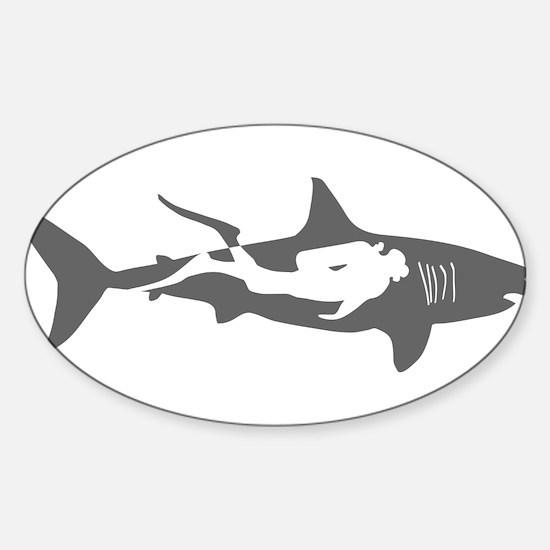 shark scuba diver hai taucher diving Decal