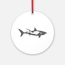 shark scuba diver hai taucher divin Round Ornament
