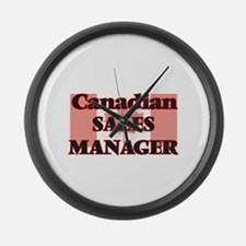 Canadian Sales Manager Large Wall Clock