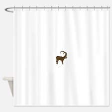 ibex capricorn steinbock mountain g Shower Curtain