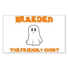 Braeden the Friendly Ghost Rectangle Decal