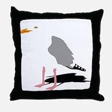 möwe seagull gull bird harbour beach Throw Pillow