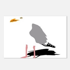 möwe seagull gull bird ha Postcards (Package of 8)