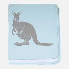 känguru kangaroo australien australia baby blanket