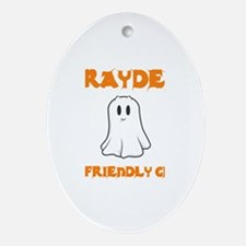 Brayden the Friendly Ghost Oval Ornament