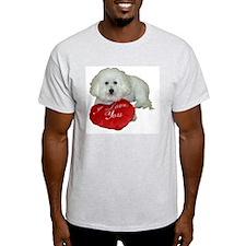 Cute Bichon frise dad T-Shirt