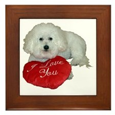 Cute Dad valentine Framed Tile