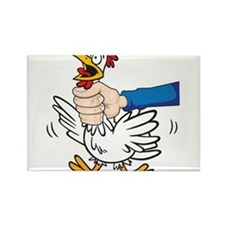 Cute Choking chicken Rectangle Magnet