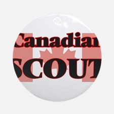 Canadian Scout Round Ornament