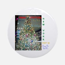 Penn Station Ny Christmas Tree. Round Ornament