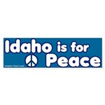 Idaho is for Peace Bumper Sticker