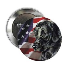 Black Lab USA Flag Button