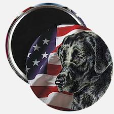 Black Lab USA Flag Magnet